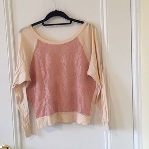 American apparel lace long sleeve